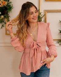 Îmbracaminte Femei Topuri și Bluze Céleste ROSSIGNOL Roz