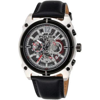 Ceasuri & Bijuterii Bărbați Ceasuri Analogice Police PL16020JSTB.04, Quartz, 46mm, 5ATM Argintiu