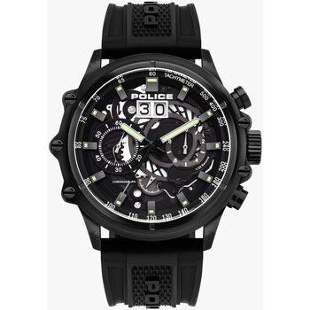Ceasuri & Bijuterii Bărbați Ceasuri Analogice Police PL16018JSB.02P, Quartz, 48mm, 10ATM Negru