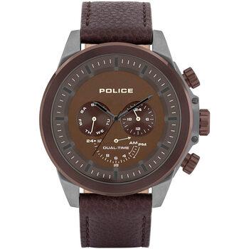 Ceasuri & Bijuterii Bărbați Ceasuri Analogice Police PL15970JSUBZ.12, Quartz, 52mm, 5ATM Maro