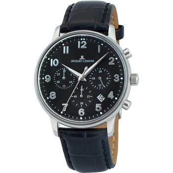 Ceasuri & Bijuterii Bărbați Ceasuri Analogice Jacques Lemans N-209ZI, Quartz, 40mm, 5ATM Argintiu