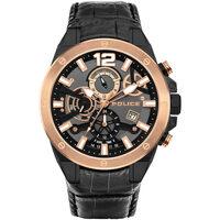 Ceasuri & Bijuterii Bărbați Ceasuri Analogice Police PL15711JSBR.61, Quartz, 47mm, 3ATM Negru