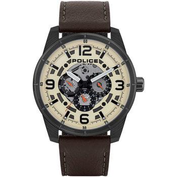 Ceasuri & Bijuterii Bărbați Ceasuri Analogice Police PL15663JSU.14, Quartz, 48mm, 3ATM Negru