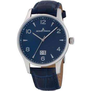 Ceasuri & Bijuterii Bărbați Ceasuri Analogice Jacques Lemans 1-1862ZC, Quartz, 40mm, 10ATM Argintiu