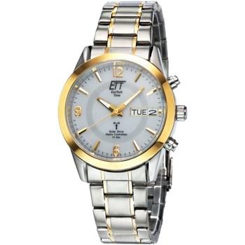 Ceasuri & Bijuterii Bărbați Ceasuri Analogice Ett Eco Tech Time EGS-11253-12M, Quartz, 40mm, 10ATM Argintiu