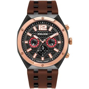 Ceasuri & Bijuterii Bărbați Ceasuri Analogice Police PL15995JSBR.61P, Quartz, 48mm, 10ATM Negru