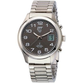 Ceasuri & Bijuterii Bărbați Ceasuri Analogice Ett Eco Tech Time EGS-11332-53M, Quartz, 39mm, 5ATM Argintiu