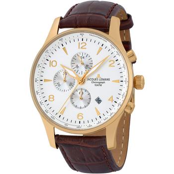Ceasuri & Bijuterii Bărbați Ceasuri Analogice Jacques Lemans 1-1844ZD, Quartz, 44mm, 10ATM Auriu