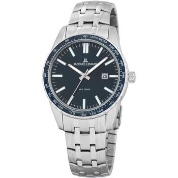 Ceasuri & Bijuterii Bărbați Ceasuri Analogice Jacques Lemans 1-2022I, Quartz, 44mm, 10ATM Argintiu
