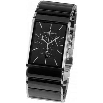 Ceasuri & Bijuterii Bărbați Ceasuri Analogice Jacques Lemans 1-1941A, Quartz, 35mm, 5ATM Argintiu