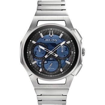 Ceasuri & Bijuterii Bărbați Ceasuri Analogice Bulova 96A205, Quartz, 44mm, 3ATM Argintiu