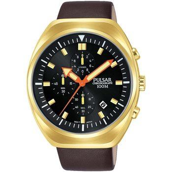 Ceasuri & Bijuterii Bărbați Ceasuri Analogice Pulsar PM3094X1, Quartz, 44mm, 10ATM Auriu