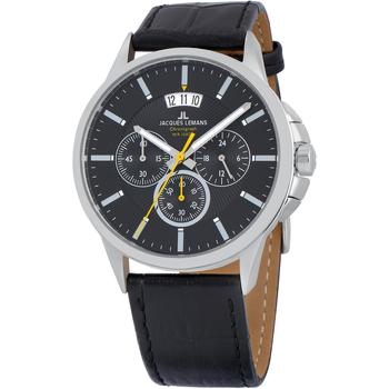 Ceasuri & Bijuterii Bărbați Ceasuri Analogice Jacques Lemans 1-1542A, Quartz, 42mm, 10ATM Argintiu