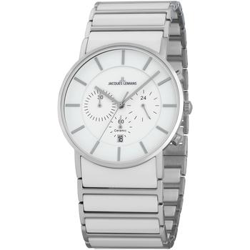 Ceasuri & Bijuterii Bărbați Ceasuri Analogice Jacques Lemans 1-1815B, Quartz, 42mm, 5ATM Argintiu