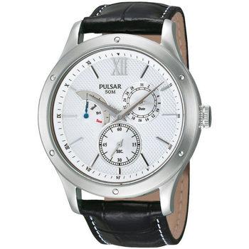 Ceasuri & Bijuterii Bărbați Ceasuri Analogice Pulsar PQ7005X1, Quartz, 43mm, 5ATM Argintiu