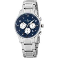 Ceasuri & Bijuterii Bărbați Ceasuri Analogice Jacques Lemans 1-1654K, Quartz, 40mm, 10ATM Argintiu
