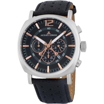 Ceasuri & Bijuterii Bărbați Ceasuri Analogice Jacques Lemans 1-1645J, Quartz, 46mm, 10ATM Argintiu
