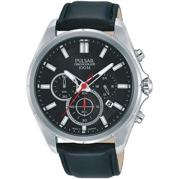 Ceasuri & Bijuterii Bărbați Ceasuri Analogice Pulsar PT3907X1, Quartz, 44mm, 10ATM Argintiu