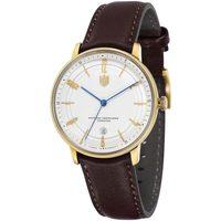 Ceasuri & Bijuterii Bărbați Ceasuri Analogice Dufa DF-9016-03, Automatic, 40mm, 3ATM Auriu