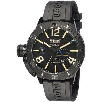 Ceasuri & Bijuterii Bărbați Ceasuri Analogice U-Boat 9015, Automatic, 46mm, 30ATM Negru