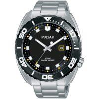 Ceasuri & Bijuterii Bărbați Ceasuri Analogice Pulsar PG8283X1, Quartz, 45mm, 10ATM Argintiu