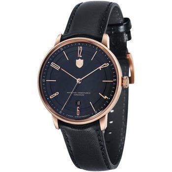 Ceasuri & Bijuterii Bărbați Ceasuri Analogice Dufa DF-9016-04, Automatic, 40mm, 3ATM Auriu
