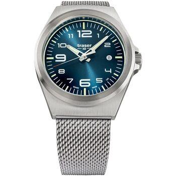 Ceasuri & Bijuterii Bărbați Ceasuri Analogice Traser H3 108205, Quartz, 42mm, 10ATM Argintiu