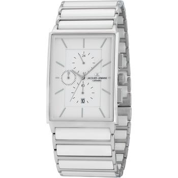 Ceasuri & Bijuterii Bărbați Ceasuri Analogice Jacques Lemans 1-1817B, Quartz, 34mm, 5ATM Argintiu