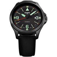 Ceasuri & Bijuterii Bărbați Ceasuri Analogice Traser H3 108075, Automatic, 42mm, 10ATM Negru