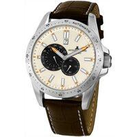 Ceasuri & Bijuterii Bărbați Ceasuri Analogice Jacques Lemans 1-1775B, Automatic, 48mm, 10ATM Argintiu