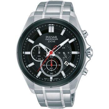 Ceasuri & Bijuterii Bărbați Ceasuri Analogice Pulsar PT3901X1, Quartz, 44mm, 10ATM Argintiu