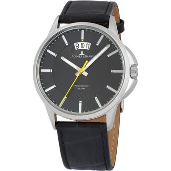 Ceasuri & Bijuterii Bărbați Ceasuri Analogice Jacques Lemans 1-1540A, Quartz, 42mm, 10ATM Argintiu
