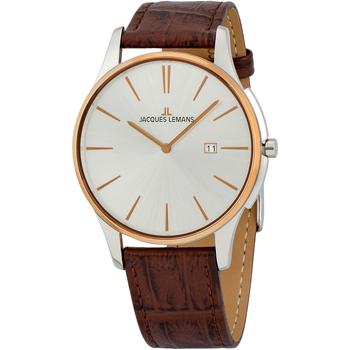 Ceasuri & Bijuterii Bărbați Ceasuri Analogice Jacques Lemans 1-1936F, Quartz, 40mm, 10ATM Argintiu