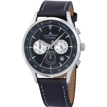 Ceasuri & Bijuterii Bărbați Ceasuri Analogice Jacques Lemans 1-2068A, Quartz, 41mm, 5ATM Argintiu