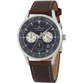Ceasuri & Bijuterii Bărbați Ceasuri Analogice Jacques Lemans 1-2068C, Quartz, 41mm, 5ATM Argintiu