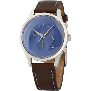Ceasuri & Bijuterii Bărbați Ceasuri Analogice Jacques Lemans 1-2067C, Quartz, 38mm, 5ATM Argintiu