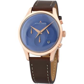 Ceasuri & Bijuterii Bărbați Ceasuri Analogice Jacques Lemans 1-2067G, Quartz, 38mm, 5ATM Auriu