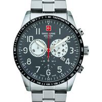 Ceasuri & Bijuterii Bărbați Ceasuri Analogice Swiss Alpine Military 7082.9138, Quartz, 45mm, 10ATM Argintiu