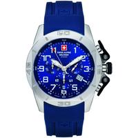 Ceasuri & Bijuterii Bărbați Ceasuri Analogice Swiss Alpine Military 7063.9835, Quartz, 45mm, 10ATM Argintiu