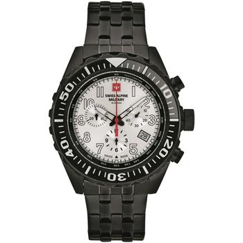 Ceasuri & Bijuterii Bărbați Ceasuri Analogice Swiss Alpine Military 7076.9172, Quartz, 44mm, 10ATM Negru