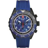 Ceasuri & Bijuterii Bărbați Ceasuri Analogice Swiss Alpine Military 7076.9875, Quartz, 44mm, 10ATM Negru