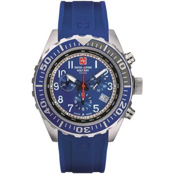 Ceasuri & Bijuterii Bărbați Ceasuri Analogice Swiss Alpine Military 7076.9835, Quartz, 44mm, 10ATM Argintiu