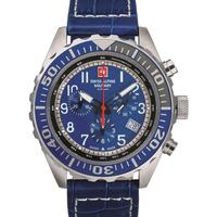 Ceasuri & Bijuterii Bărbați Ceasuri Analogice Swiss Alpine Military 7076.9535, Quartz, 44mm, 10ATM Argintiu
