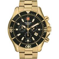 Ceasuri & Bijuterii Bărbați Ceasuri Analogice Swiss Alpine Military 7040.9117, Quartz, 45mm, 10ATM Auriu