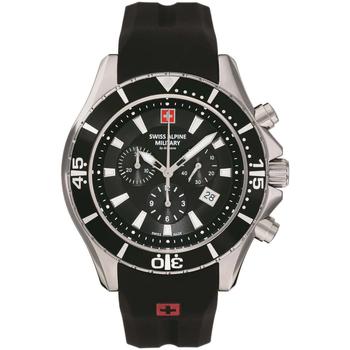 Ceasuri & Bijuterii Bărbați Ceasuri Analogice Swiss Alpine Military 7040.9837, Quartz, 45mm, 10ATM Argintiu