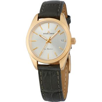 Ceasuri & Bijuterii Femei Ceasuri Analogice Jacques Lemans 1-2084C, Quartz, 30mm, 10ATM Auriu