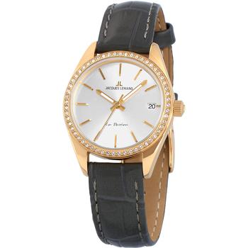 Ceasuri & Bijuterii Femei Ceasuri Analogice Jacques Lemans 1-2085C, Quartz, 30mm, 10ATM Auriu