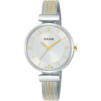 Ceasuri & Bijuterii Femei Ceasuri Analogice Pulsar PH8469X1, Quartz, 30mm, 3ATM Argintiu