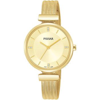 Ceasuri & Bijuterii Femei Ceasuri Analogice Pulsar PH8470X1, Quartz, 30mm, 3ATM Auriu