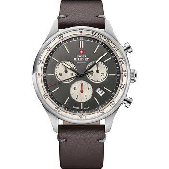 Ceasuri & Bijuterii Bărbați Ceasuri Analogice Swiss Military By Chrono SM34081.12, Quartz, 42mm, 10ATM Argintiu